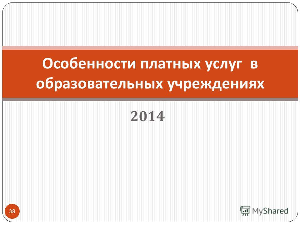 2014 38 Особенности платных услуг в образовательных учреждениях