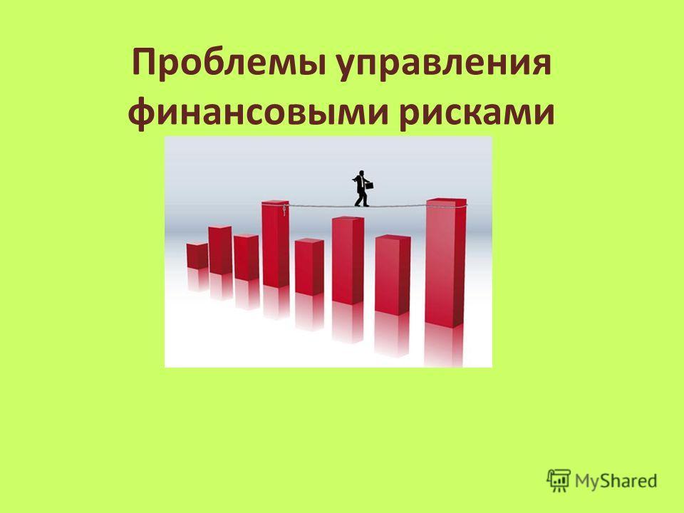 Проблемы управления финансовыми рисками