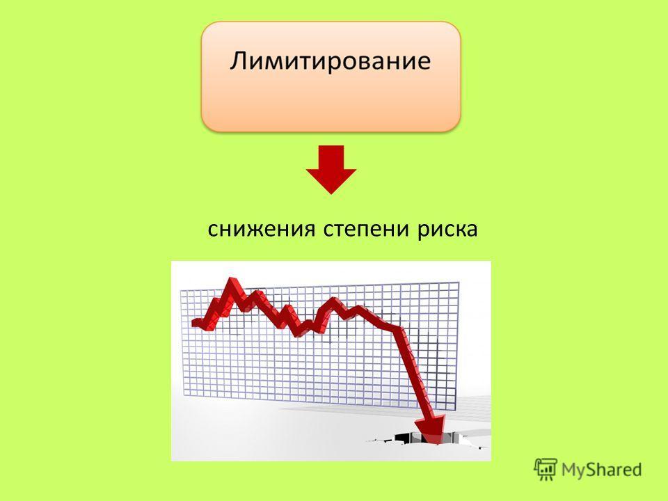 снижения степени риска