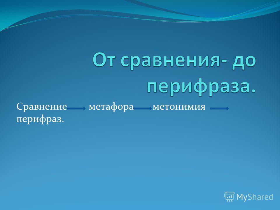 Сравнение метафора метонимия перифраз.