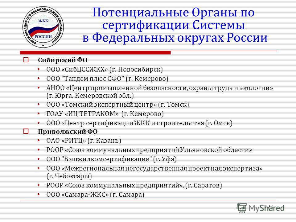 Сибирский ФО ООО «СибЦССЖКХ» (г. Новосибирск) ООО