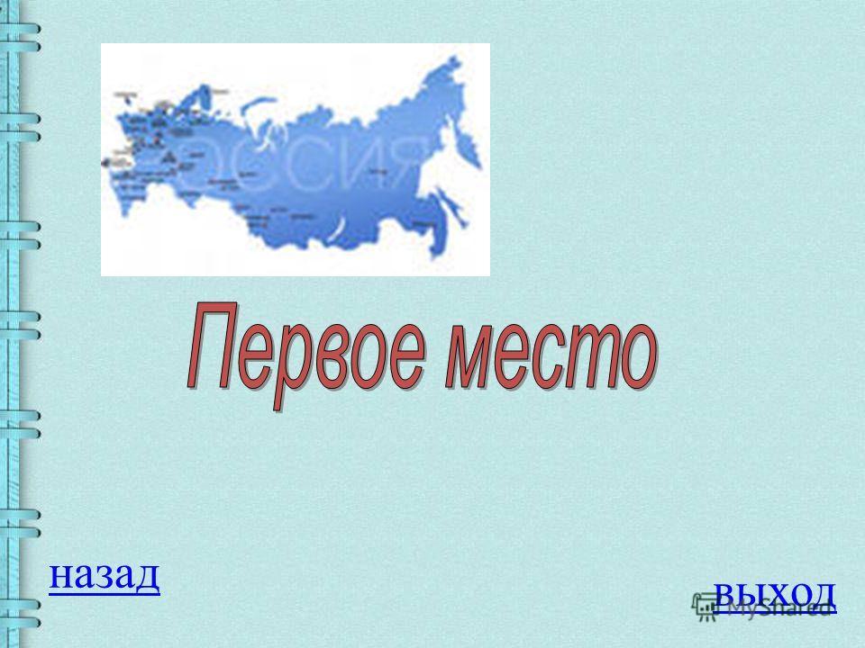 Вопрос на 100 баллов Россия занимает по площади место в мире: 1. Первое 2. Третье 3. Пятое 4. Шестое ОТВЕТ