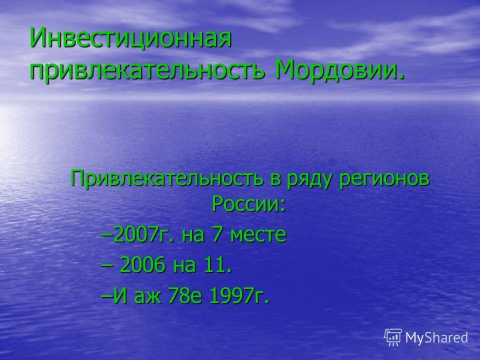 Мордовия – наиболее спокойный регион. Инвестиционная привлекательность. Инвестиционная привлекательность. Интерес на мировом рынке. Интерес на мировом рынке.