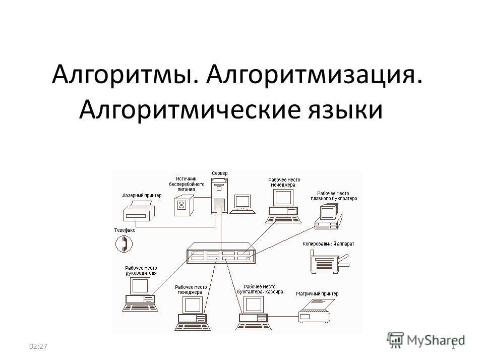 Алгоритмы. Алгоритмизация. Алгоритмические языки 102:29