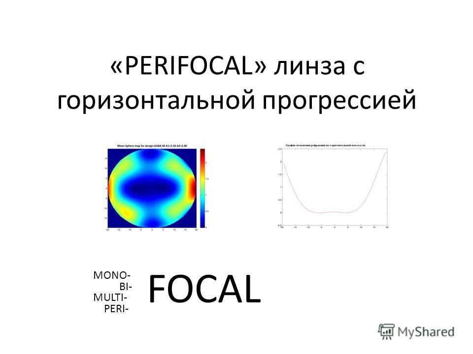 «PERIFOCAL» линза с горизонтальной прогрессией FOCAL MONO- BI- MULTI- PERI-