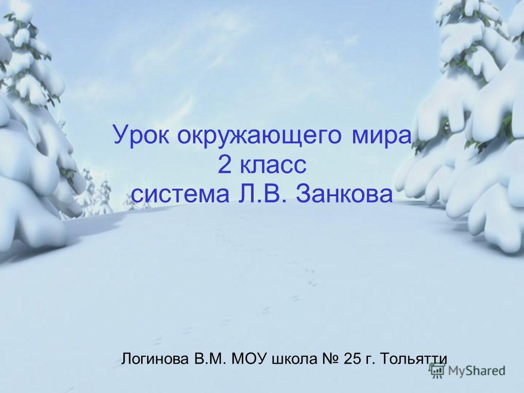 Урок окружающего мира 2 класс система Л.В. Занкова Логинова В.М. МОУ школа 25 г. Тольятти