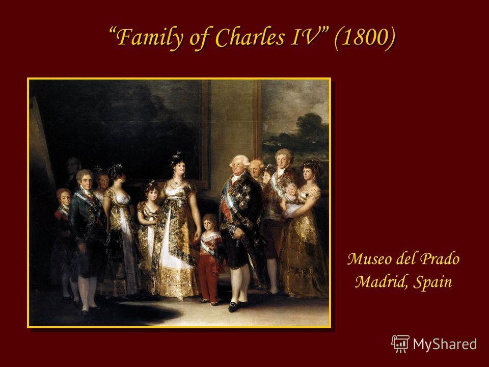 Museo del Prado Madrid, Spain Family of Charles IV (1800)