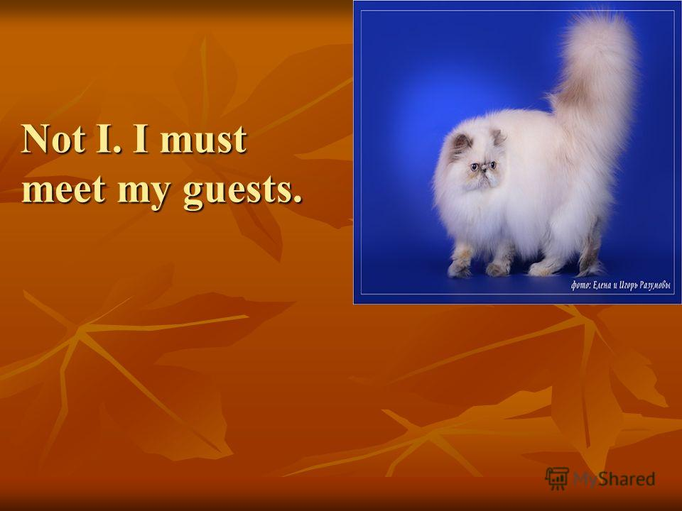 Not I. I must meet my guests.