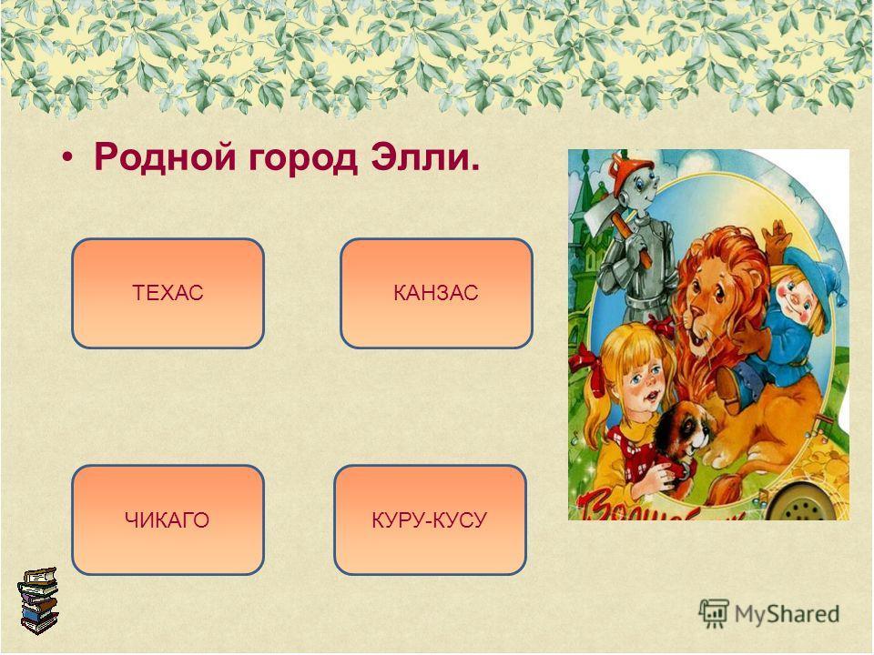 Родной город Элли. КАНЗАС ЧИКАГО ТЕХАС КУРУ-КУСУ