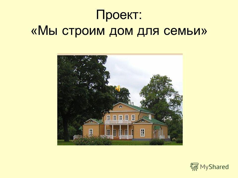 Проект: «Мы строим дом для семьи»