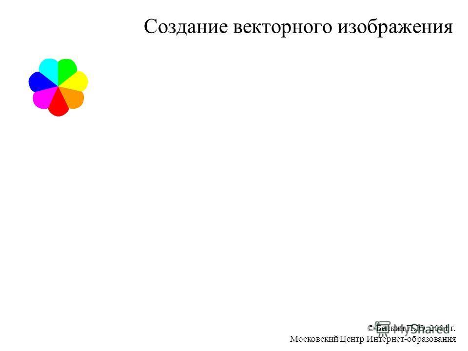 © Белкин П.Ю. 2001 г. Московский Центр Интернет-образования Создание векторного изображения