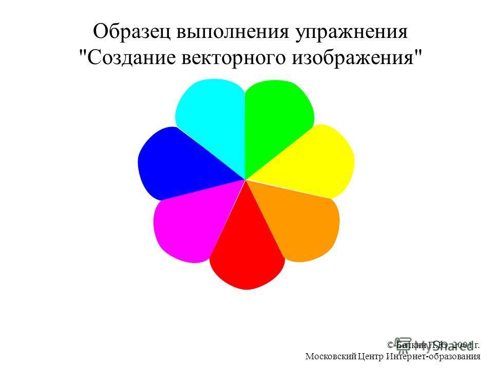 © Белкин П.Ю. 2001 г. Московский Центр Интернет-образования Образец выполнения упражнения Создание векторного изображения