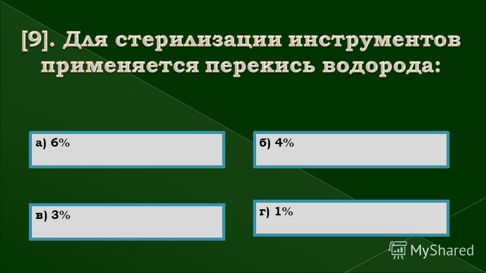 а) 6%б) 4% в) 3% г) 1%