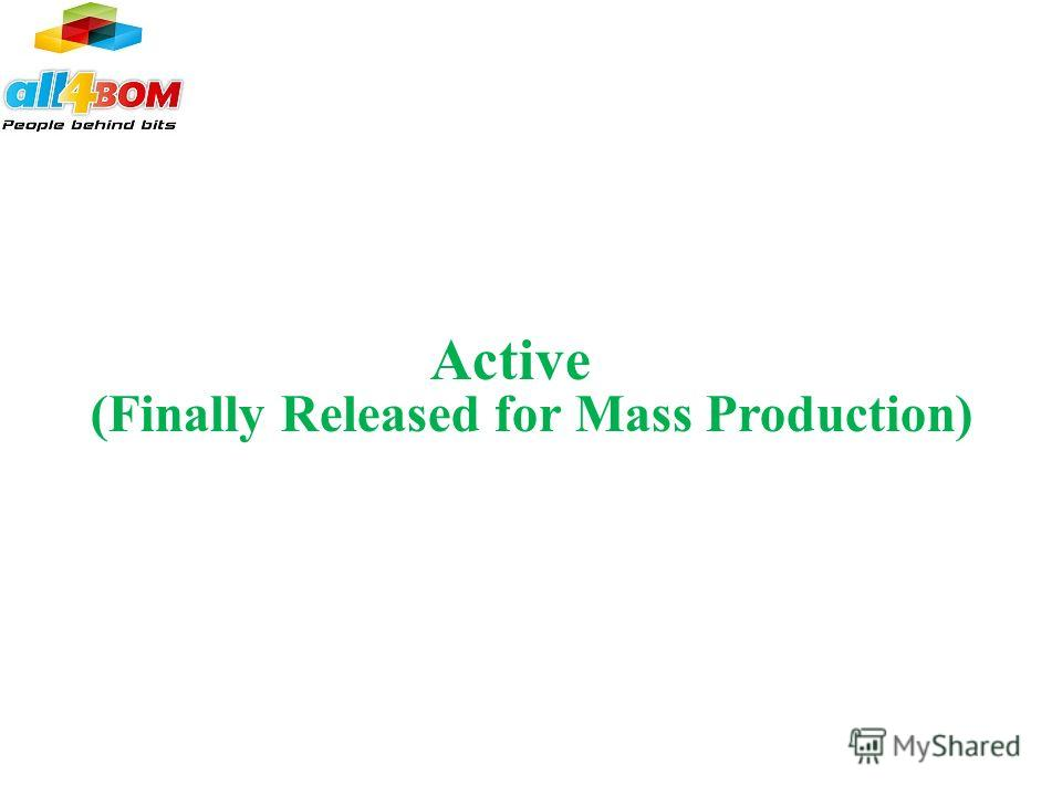 Active (Finally Released for Mass Production)