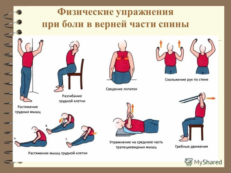 Физические упражнения при боли в верней части спины
