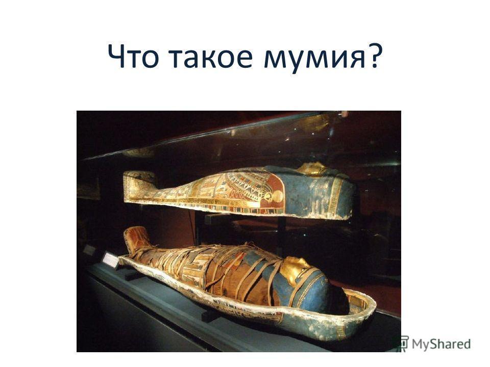Что такое мумия?