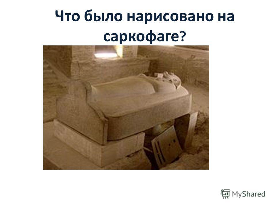 Что было нарисовано на саркофаге ?