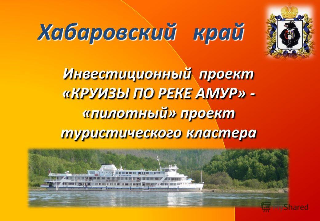 Инвестиционный проект «КРУИЗЫ ПО РЕКЕ АМУР» - «пилотный» проект туристического кластера Хабаровский край