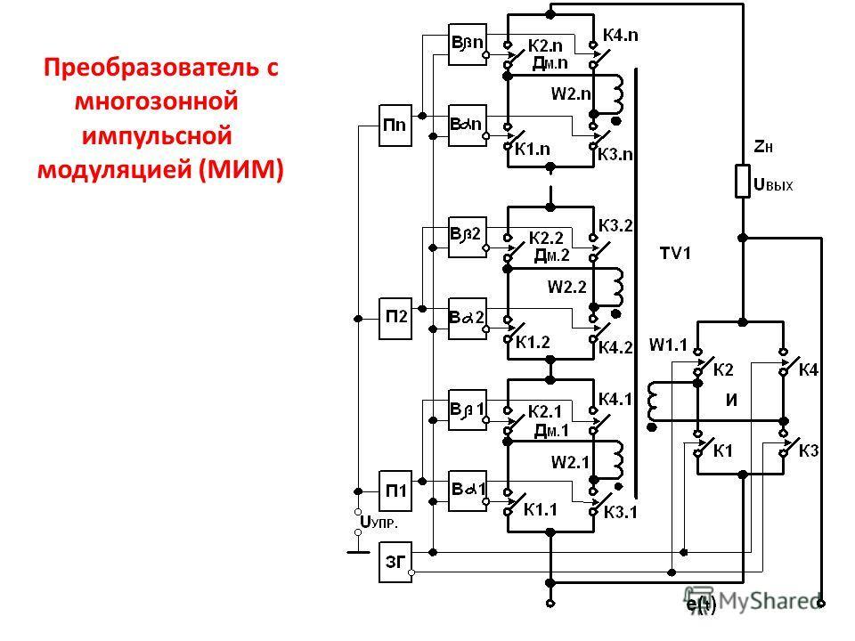 Преобразователь с многозонной импульсной модуляцией (МИМ)