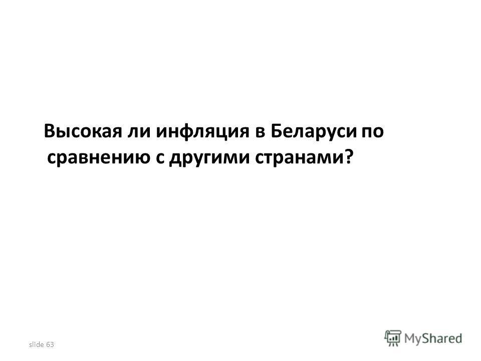 Высокая ли инфляция в Беларуси по сравнению с другими странами? slide 63
