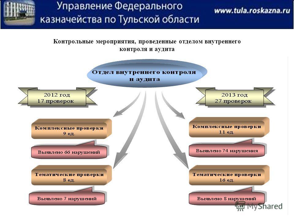 Контрольные мероприятия, проведенные отделом внутреннего контроля и аудита