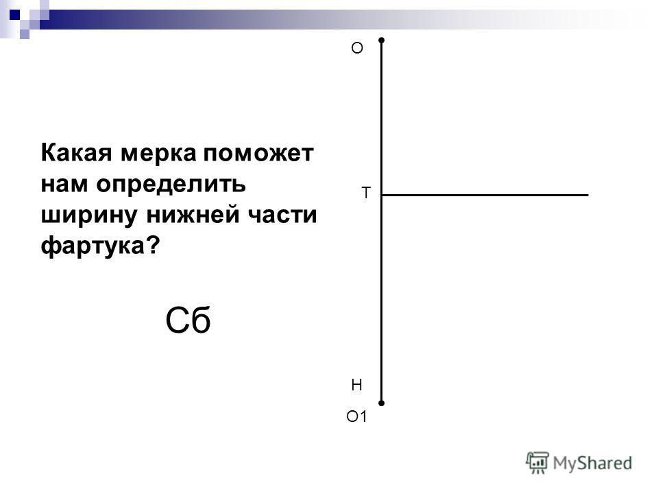 О Н Т Какая мерка поможет нам определить ширину нижней части фартука? Сб