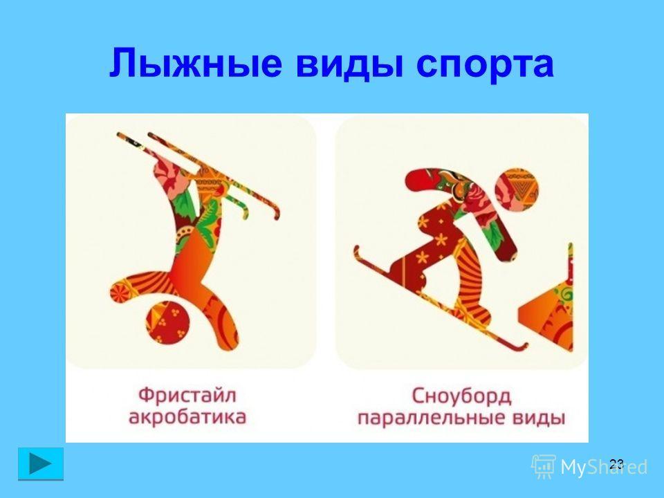 23 Лыжные виды спорта