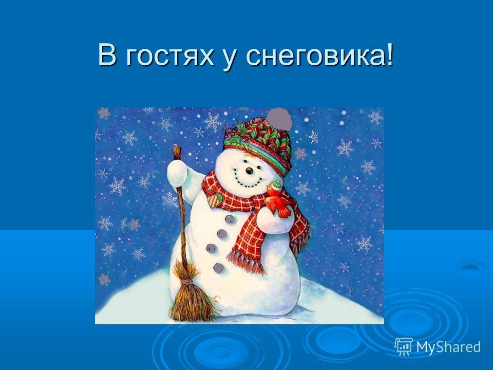 В гостях у снеговика!