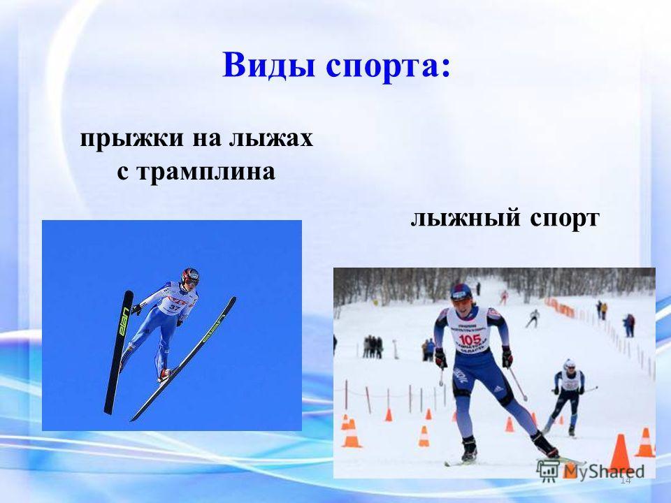 Виды спорта: лыжный спорт прыжки на лыжах с трамплина 14