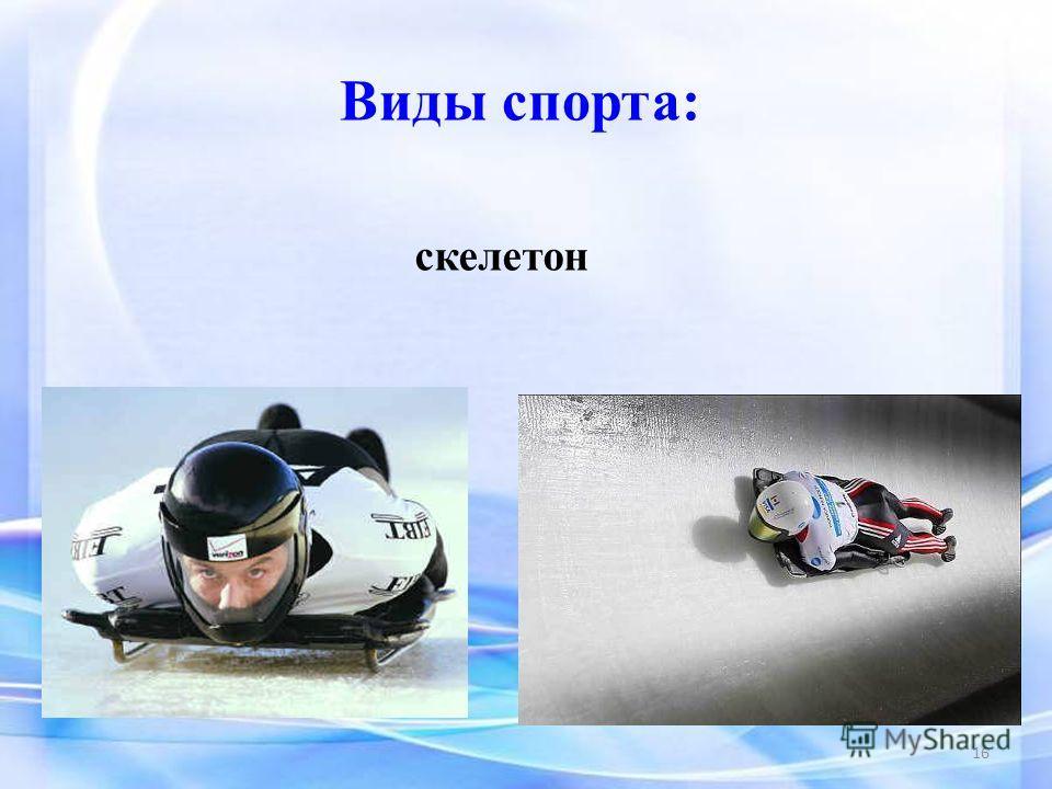 Виды спорта: скелетон 16