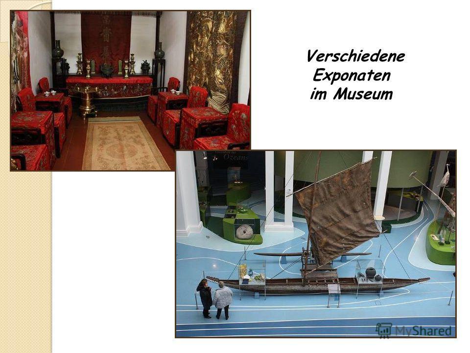 Verschiedene Exponaten im Museum