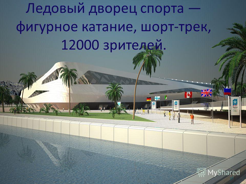 Ледовый дворец спорта фигурное катание, шорт-трек, 12000 зрителей. 36