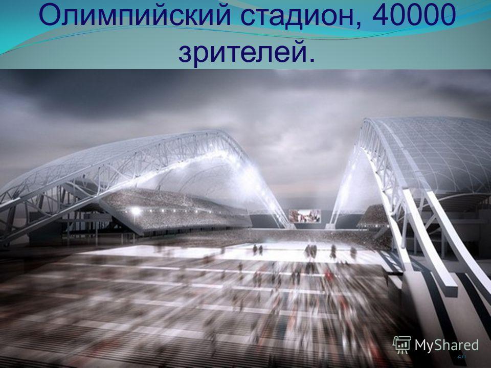 Олимпийский стадион, 40000 зрителей. 40