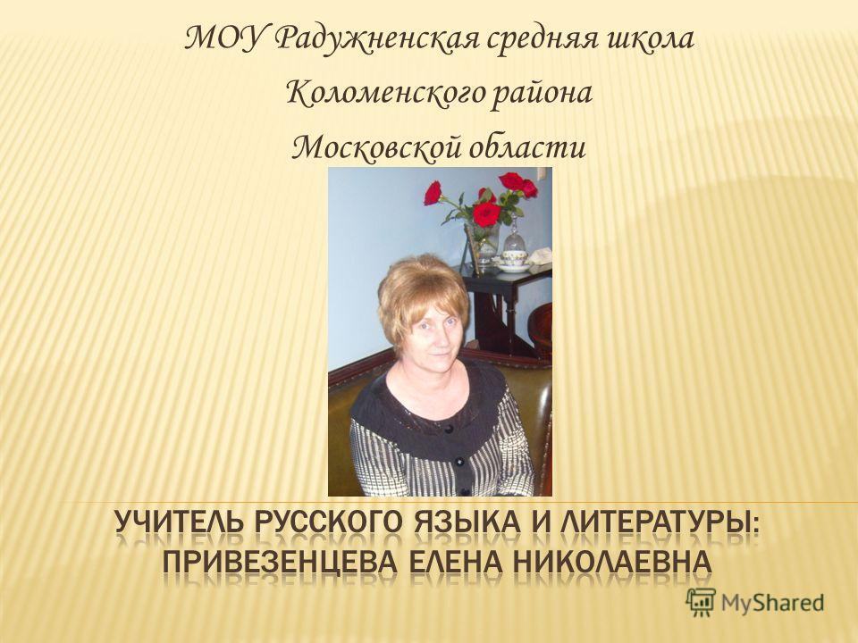 МОУ Радужненская средняя школа Коломенского района Московской области