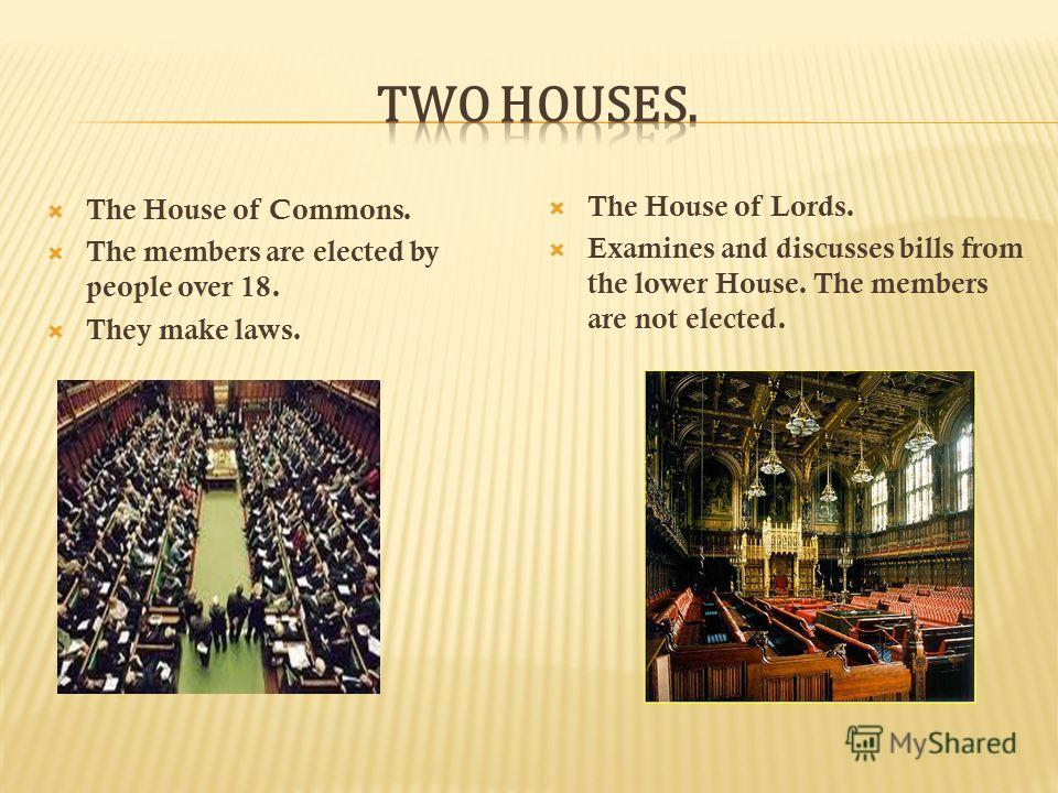 The legislative branch - Parliament.