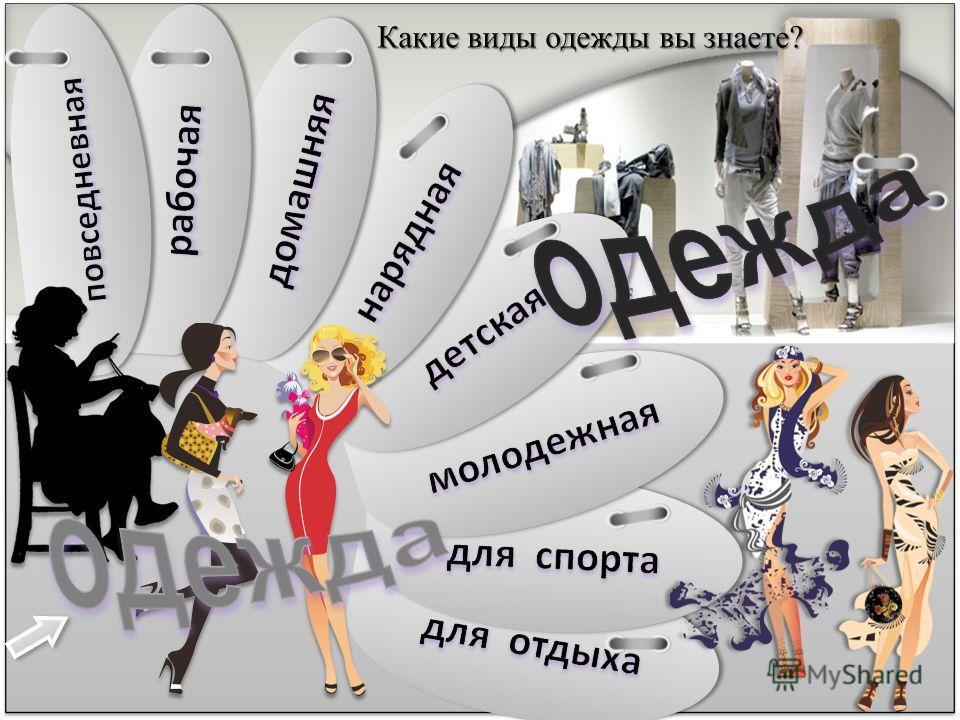 Какие виды одежды вы знаете?