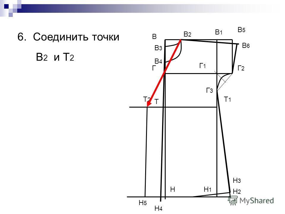 В Н В1В1 Н1Н1 Т Т1Т1 Г Г1Г1 В5В5 Г2Г2 Г3Г3 Н2Н2 Н3Н3 В2В2 В3В3 В4В4 6. Соединить точки В 2 и Т 2 В6В6 Н4Н4 Т2Т2 Н5Н5