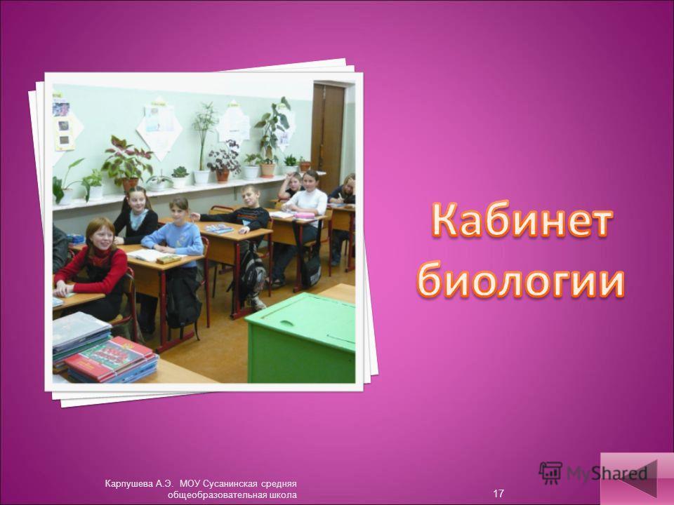 Карпушева А.Э. МОУ Сусанинская средняя общеобразовательная школа 17