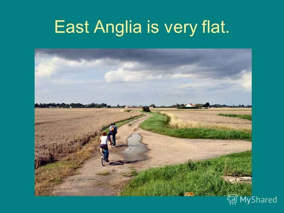 East Anglia is very flat.