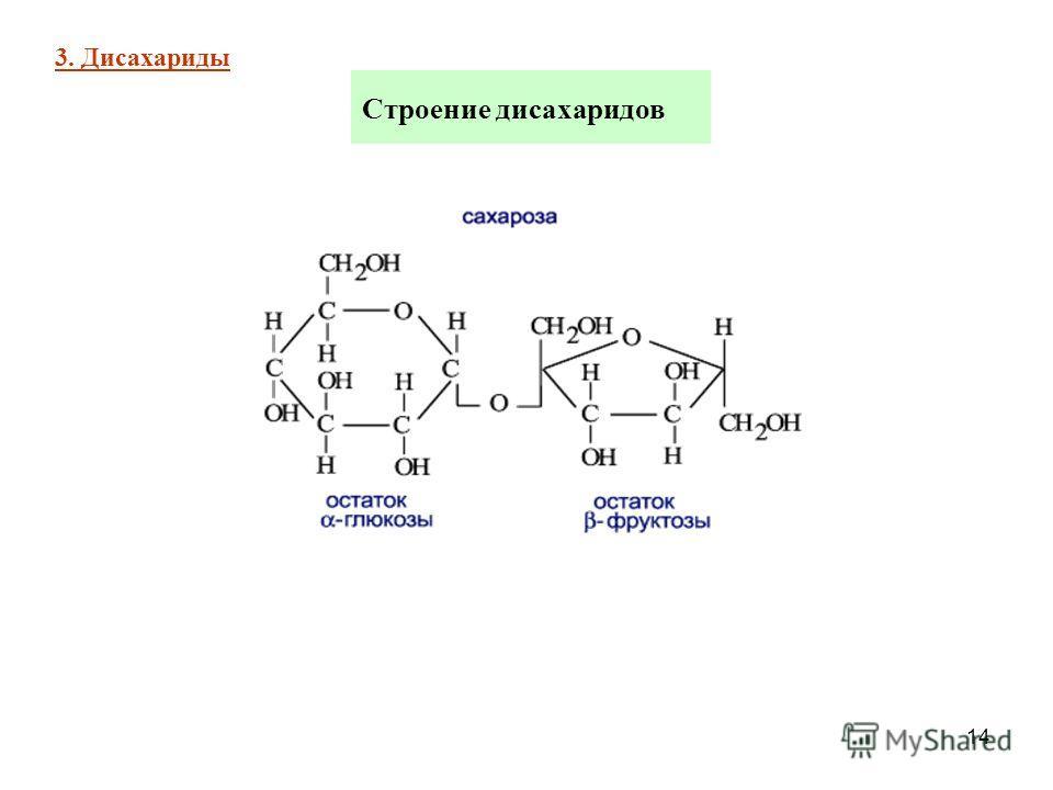 14 Строение дисахаридов 3. Дисахариды
