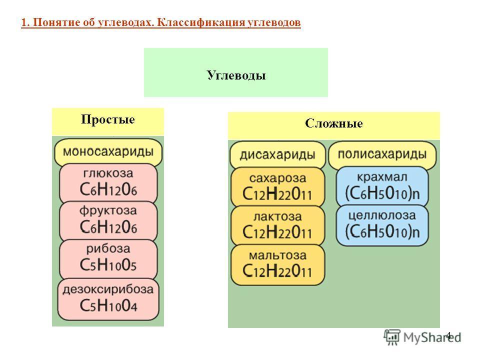 4 Углеводы Простые Сложные