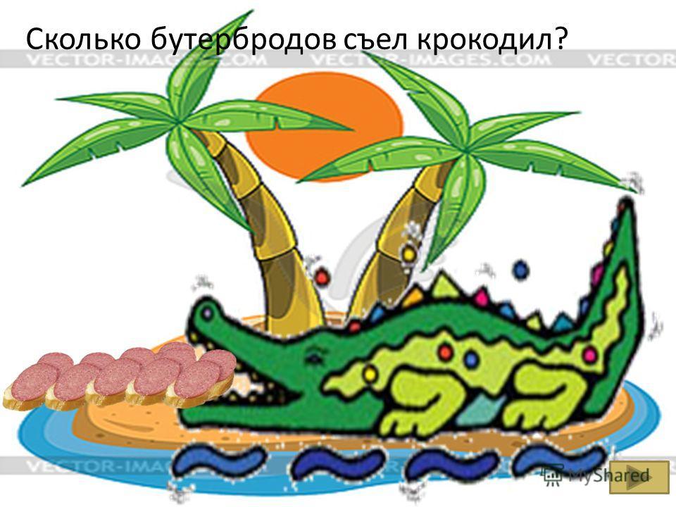 Сколько бутербродов съел крокодил?