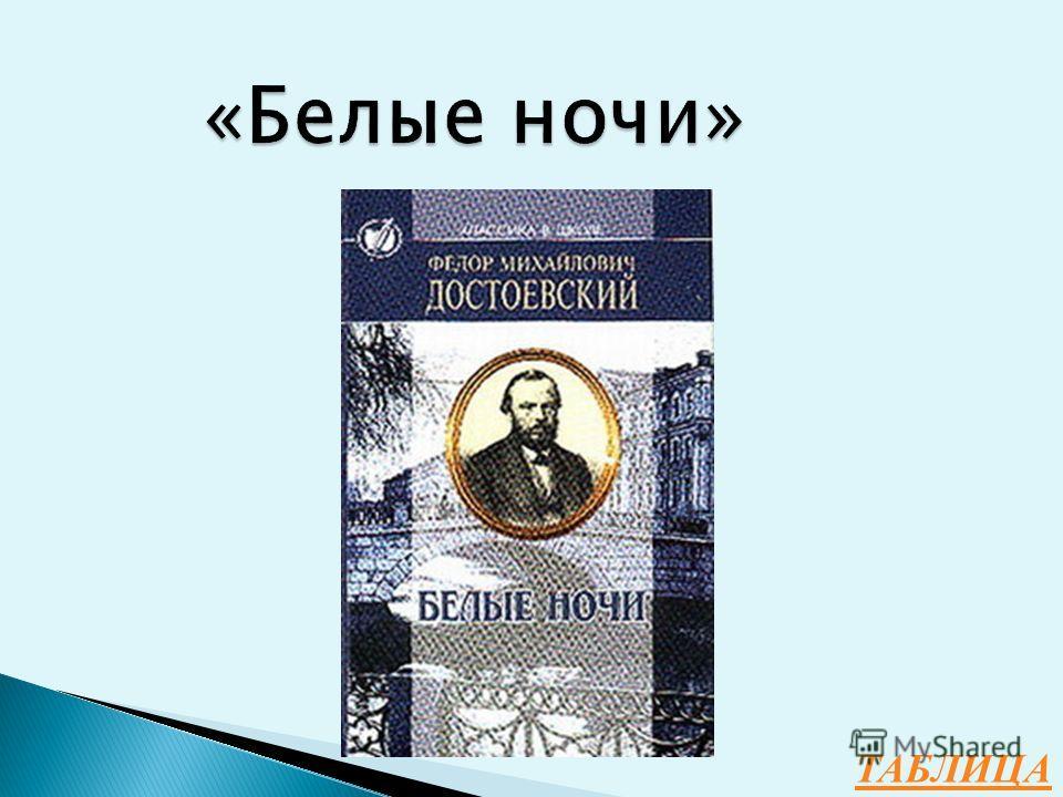 Какой приметой петербургской природы Достоевский назвал одну из ранних своих повестей?
