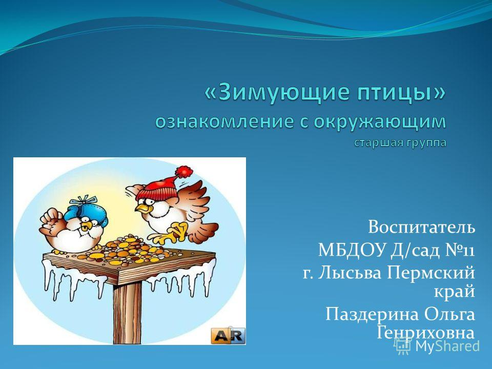 Воспитатель МБДОУ Д/сад 11 г. Лысьва Пермский край Паздерина Ольга Генриховна