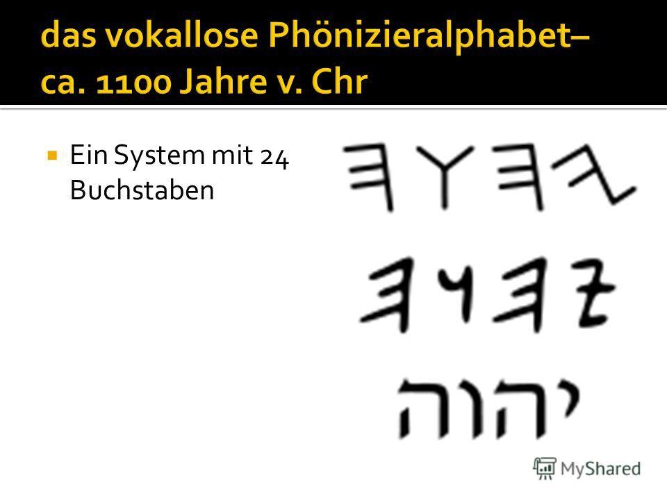 Ein System mit 24 Buchstaben