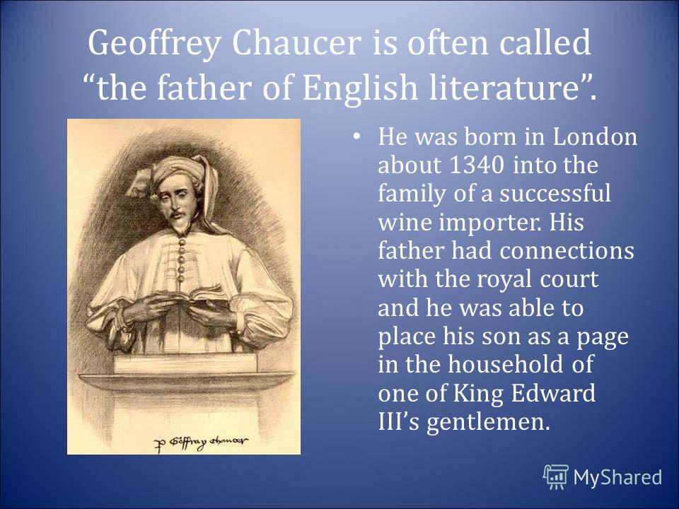 geoffrey chaucer s hand in making english