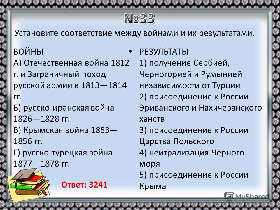 ВОЙНЫ A) Отечественная война