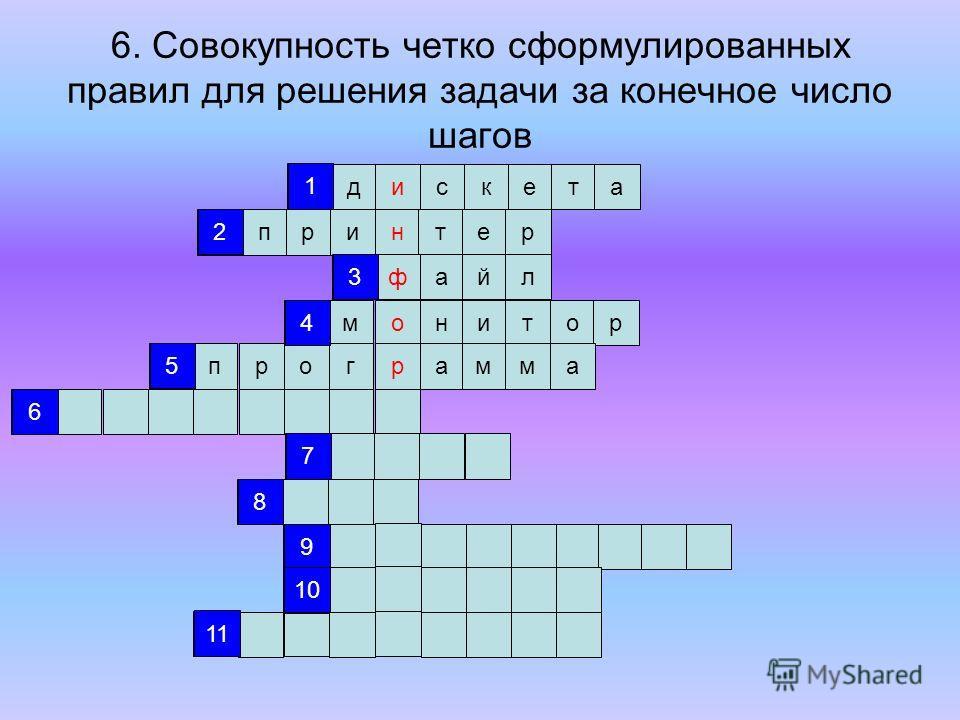 5. Алгоритм, записанный на языке, которым пользуется компьютер дискета принтер файл монитор 1 2 3 4 5 6 7 8 9 10 11 1 2 3 4 5 6 7 8 9 10 11