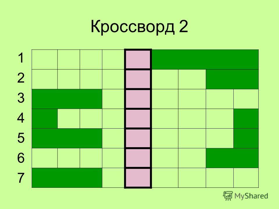 Кроссворд 2 12345671234567