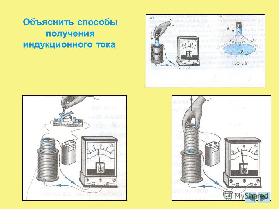 Объяснить способы получения индукционного тока